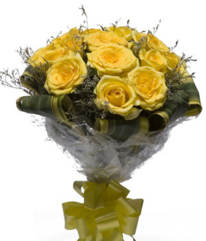 10 Yellow Delight Roses