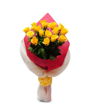 15 Yellow Roses Thinking You