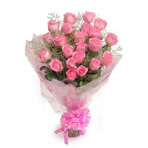 25 Pink Roses Perfection