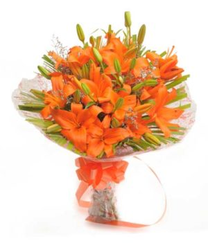 6 Orange Lillies Beauty in Fire