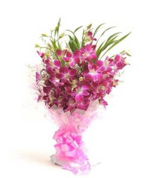 9 Purple Orchids Perfect N Elegance
