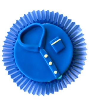 Customized Blue t-Shirt 6 Cupcakes