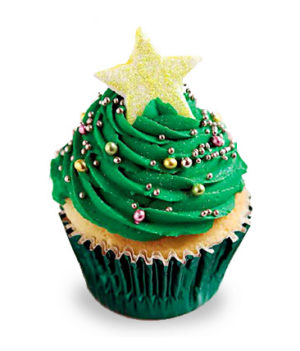 Christmas Tree Decorative 6 Cupcakes