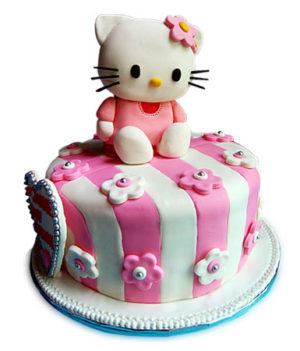 Hello Kitty Dark Truffle Cake