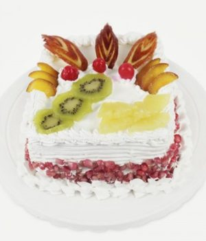 Square Mix Fresh Fruit Cake