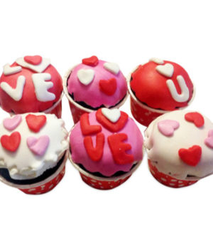 Special 6 Cupcakes for Valentine Day