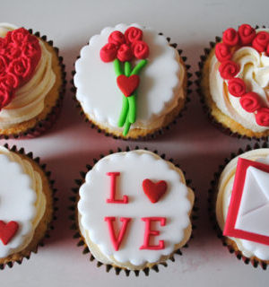 Pack of 6 Cupcakes for Love