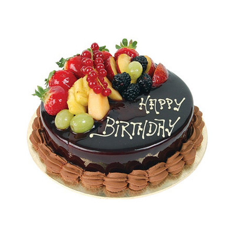 Order Chocolate Fruit Cake Online from WishByGift